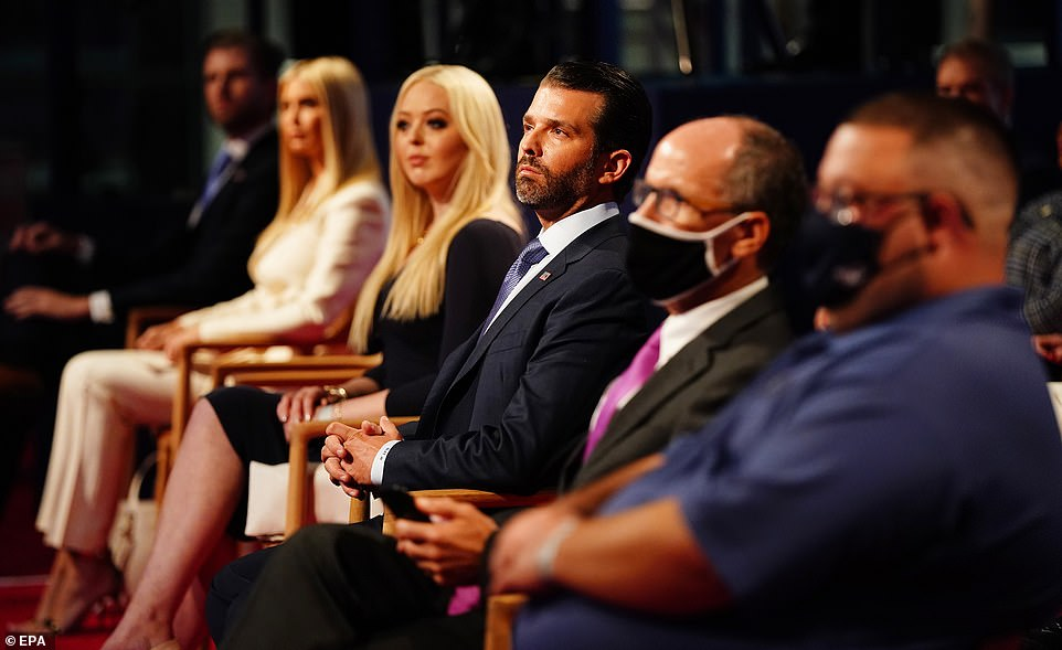 Tiffany Trump Goes without Mask to Donald Trumo's Presidential Debate
