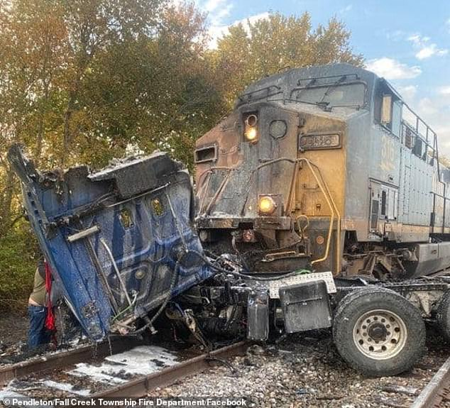 Semi Truck Crash in Indiana