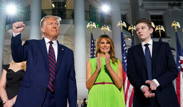 Melania Trump's Son Barron Trump Tests Positive for Covid 19