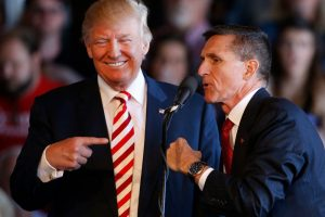 Michael Flynn and Trump during the 2016 campaign