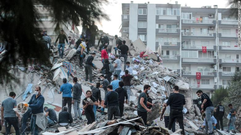 Earthquake in Greece and Turkey