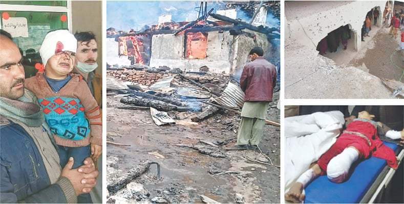 Pakistan-occupied Kashmir across the Line of Control