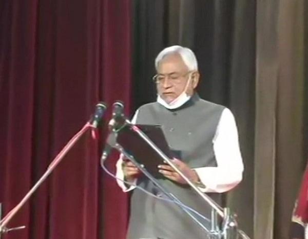 Bihar CM Nitish Kumar takes oath