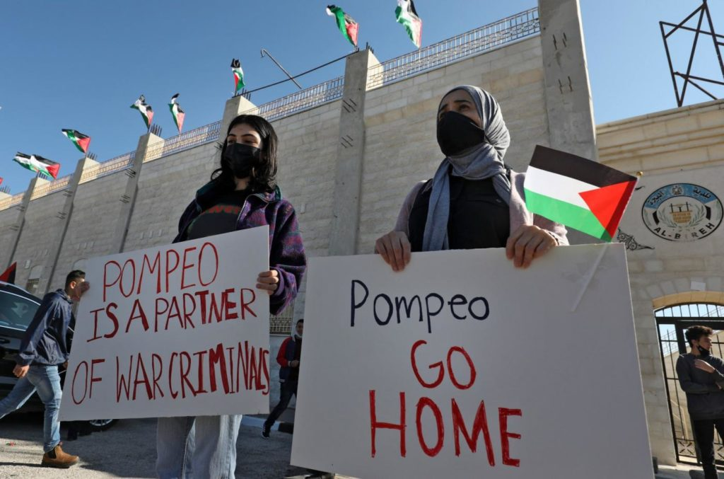 Pompeo Visits to Israel Settlement