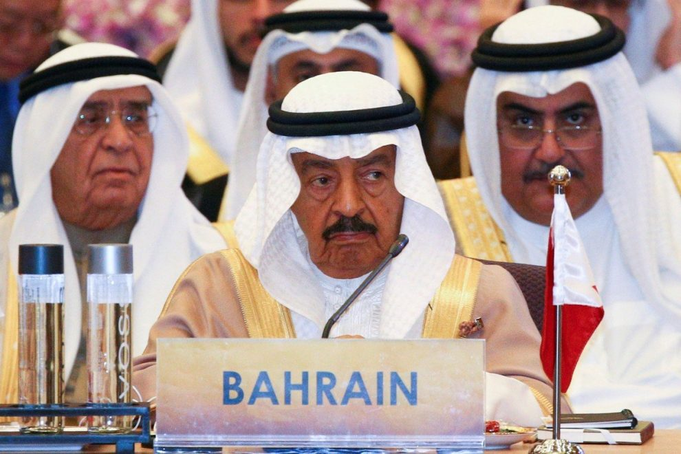 Bahrain's Prince Khalifa bin Salman Al Khalifa