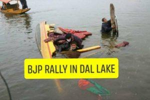 BJP Boat capsized