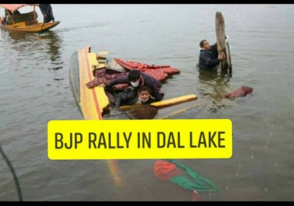 BJP Boat capsized